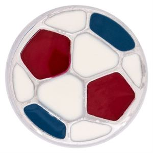 Picture of Red, White & Blue Soccer Ball Charm